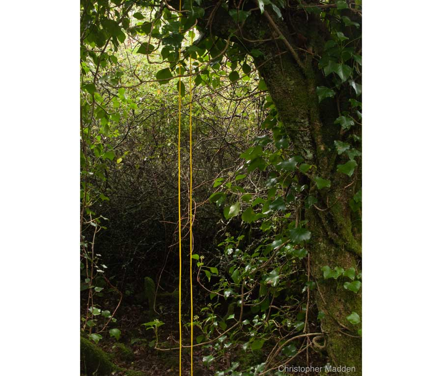 contemporary art in the environment - intervention in the landscape, St Ives, Cornwall