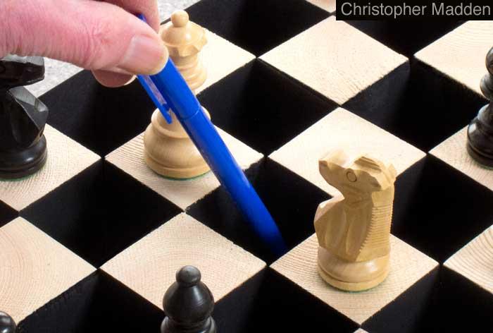 contemporary art chess set
