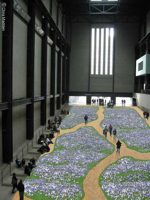 Tate Modern Turbine Hall installation - Crocus Carpet